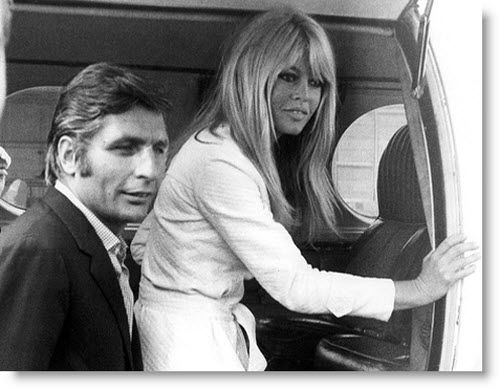 Gunter Sachs with wife, French actress Brigitte Bardot, in 1966