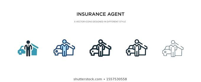 insurance agent icon in different style vector ...