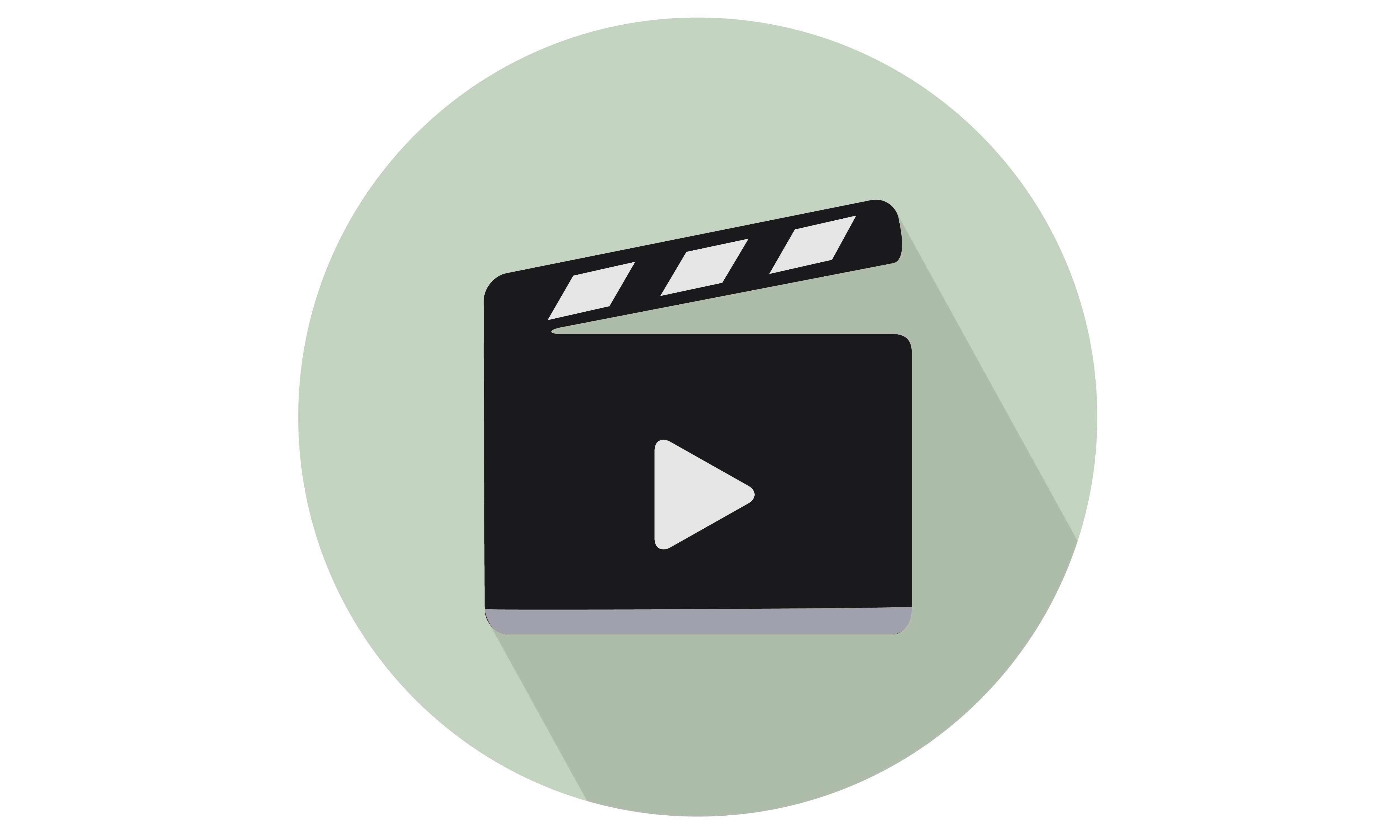 Clapperboard with Play Sign vector illustration. From Our