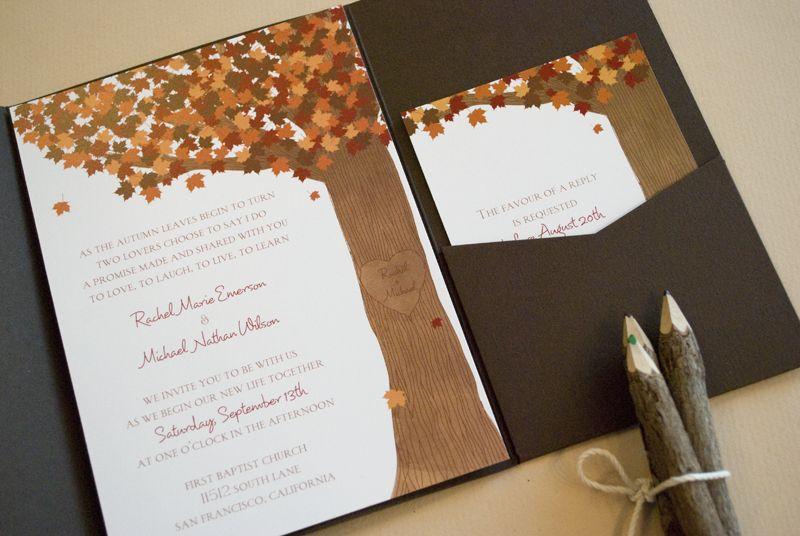 Good Fall Themed Tampa Bay Wedding Invitations U2013 Invitation Consultants | MMTB Wedding  Invitations | Pinterest | Pocket Invitation, Weddings And Wedding Awesome Ideas