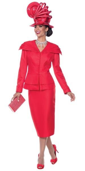 Lisa Rene 3291 Womens Suit With Pleated Over-Shoulder Collar