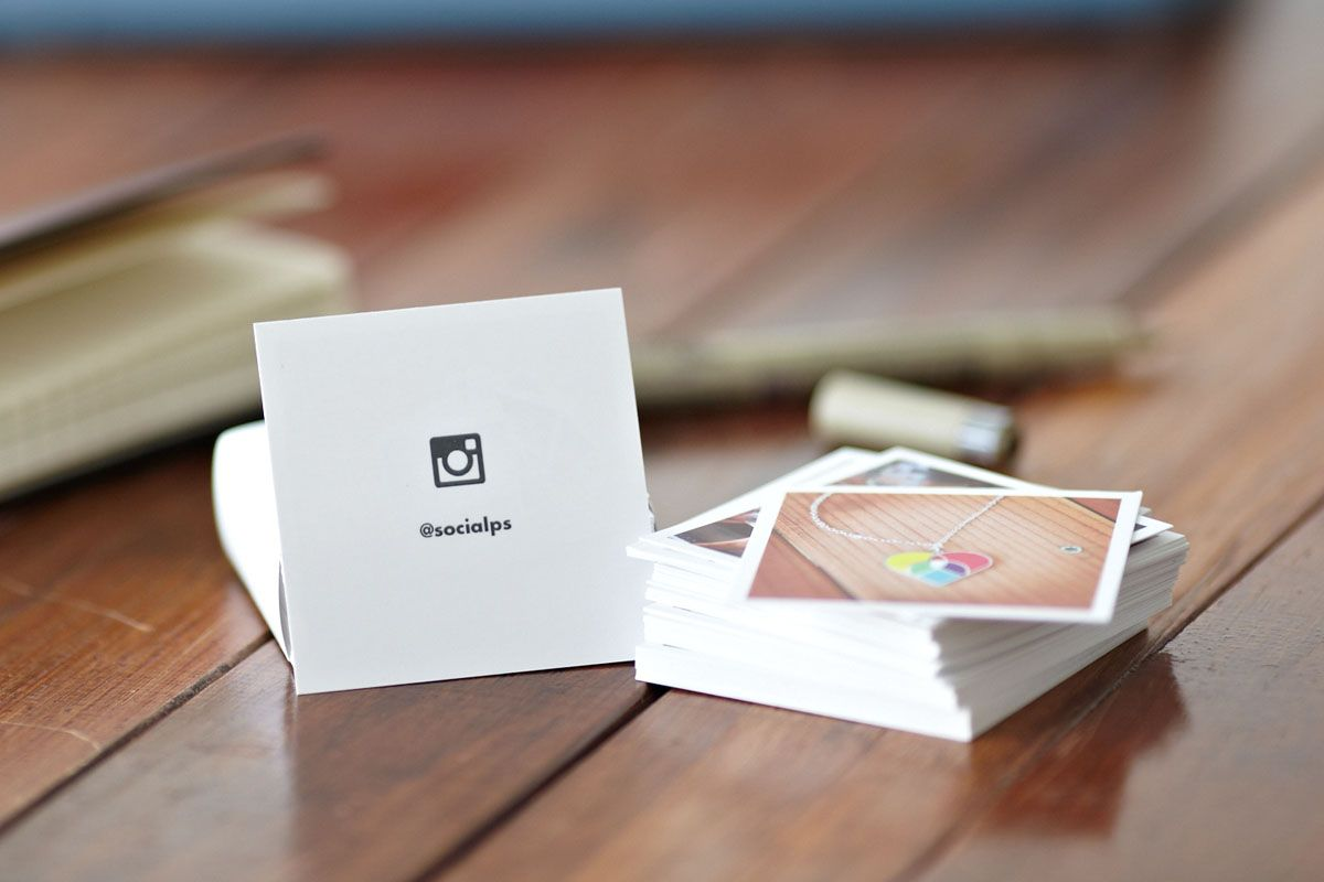 Printstagram Contact Cards Little Square Business From Instagram Photos 100 For