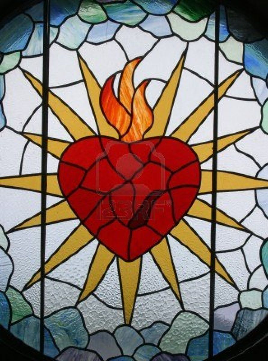 Sacred Heart Of Jesus Stained Glass Sacred Heart Of Jesus