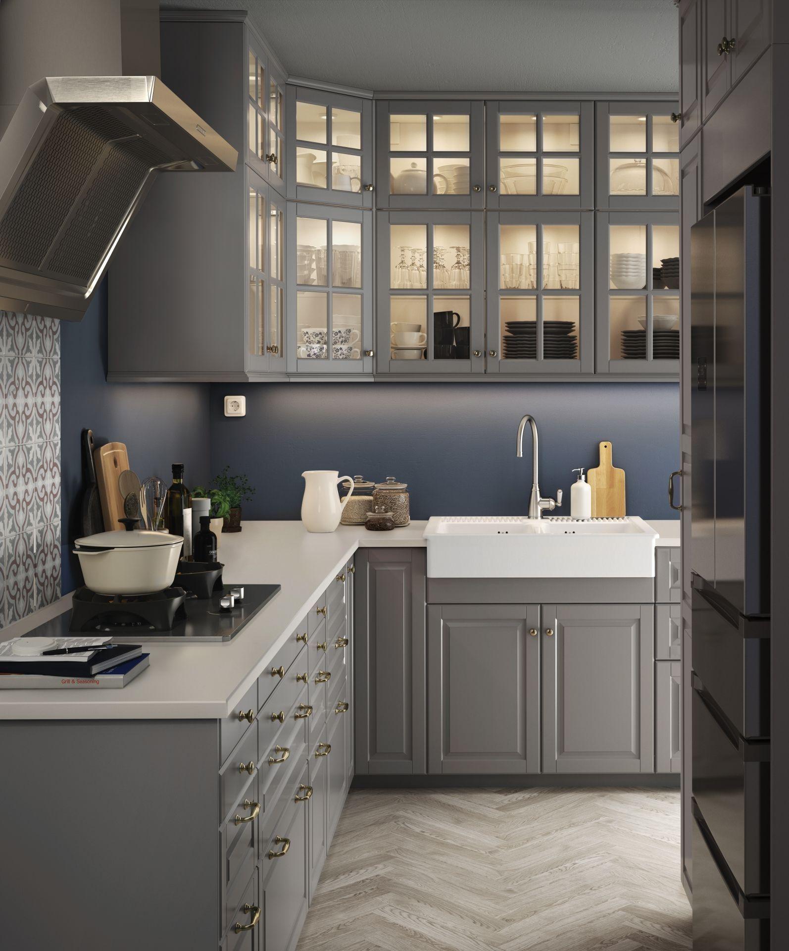 Bodn Deur Grijs Home Decor Pinterest Ikea Cabinets Hemnes ...