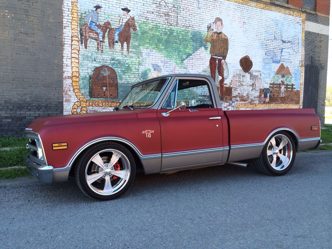 1968 Chevy C10 With Intro Vista Ii 20 22 Toyo Proxe St Pickup Truck Amp