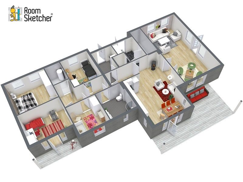 With RoomSketcher Pro You Can Customize The 3D Angle Of Your Floor Plan Create