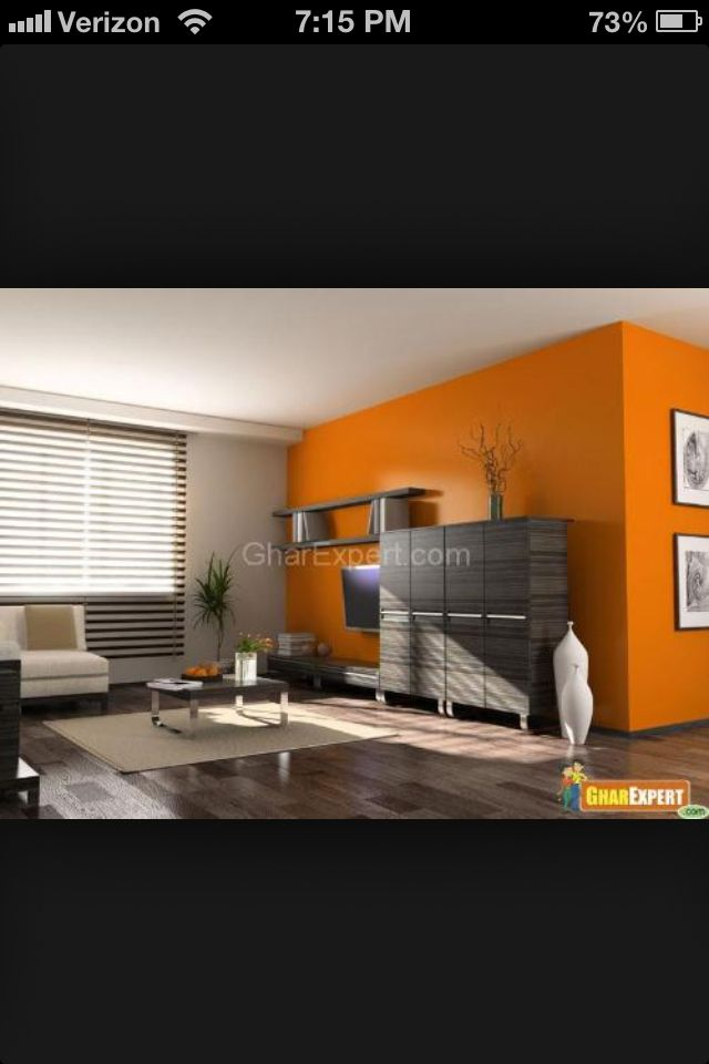 Grey And Orange Room Gray Bedroom Rooms Dining Paint