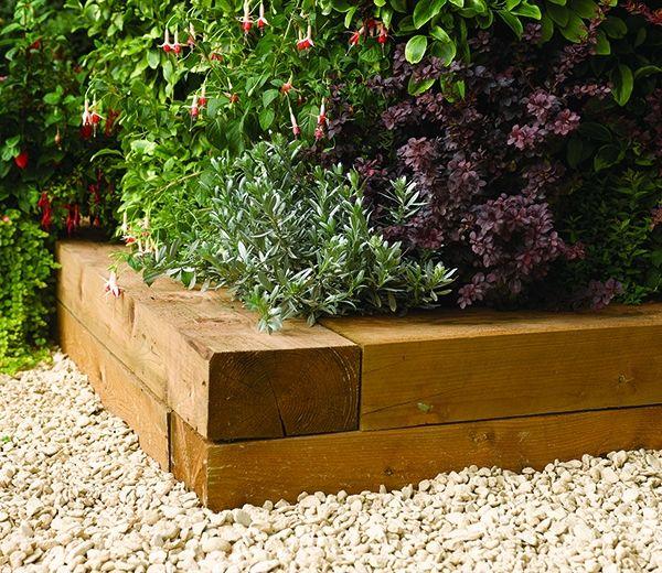 Landscape Timber Edging Ideas: Wood Garden Border Edging