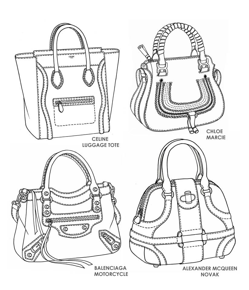 Famous Handbag Designs Sketches By Emily O Rourke