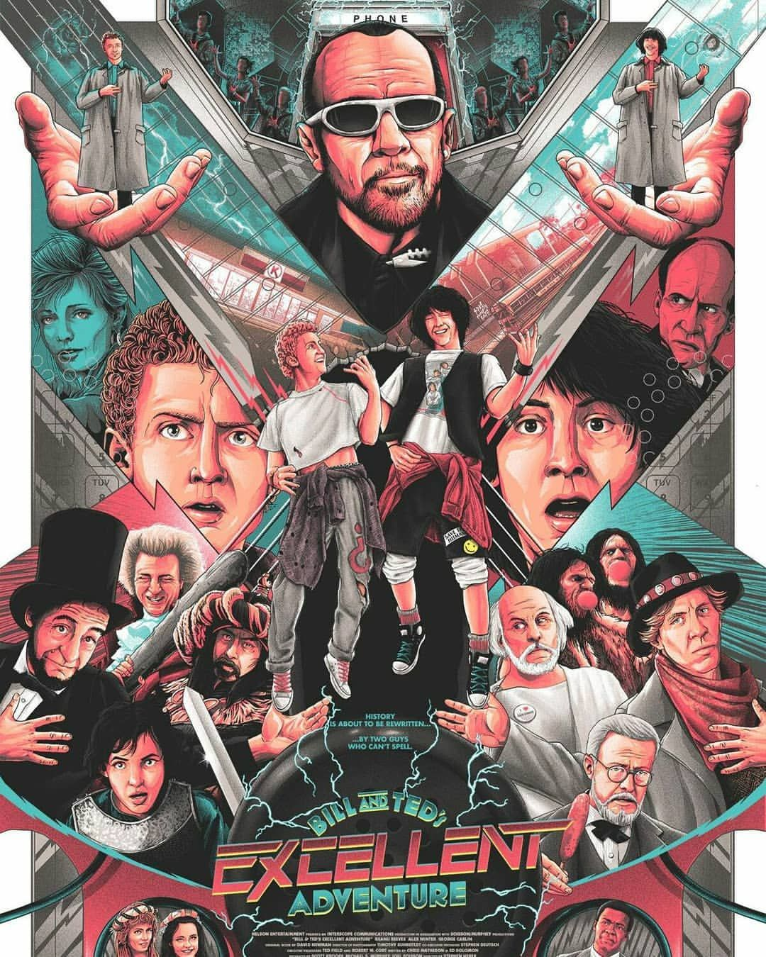 Two Heads Are Better Than One Happy Big 30th Anniversary Bill And Ted Amazing Artwork By Matt Ryan And You Ca Adventure Movie Movie Posters Poster Art