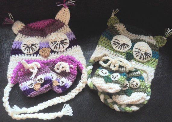 Instant Download VKNC278 Owl Mittens and owl hat crochet pattern  baby boys  girls unisex animal mittens Christmas present on Etsy, 124,56Kč