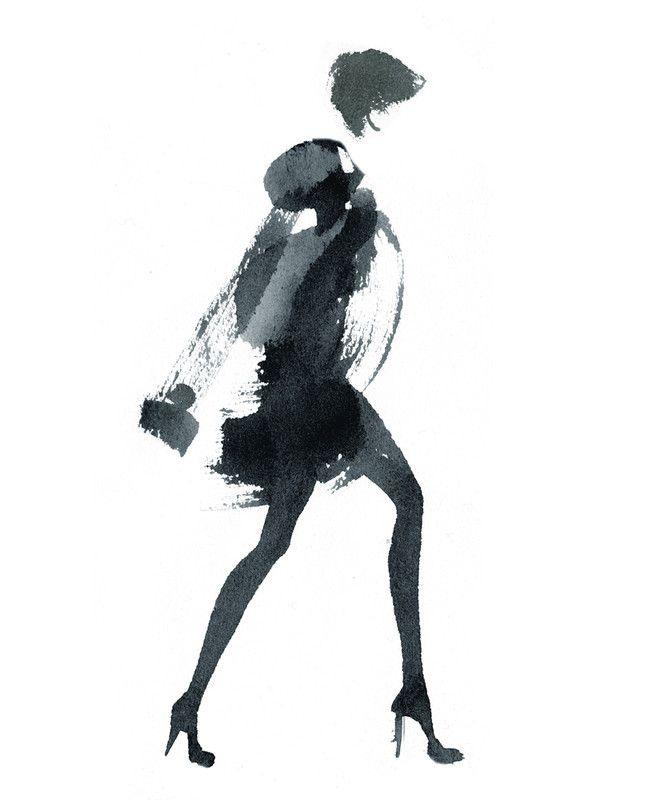 Aurore De La Morinerie Encre Illustration De Mode Dessin De