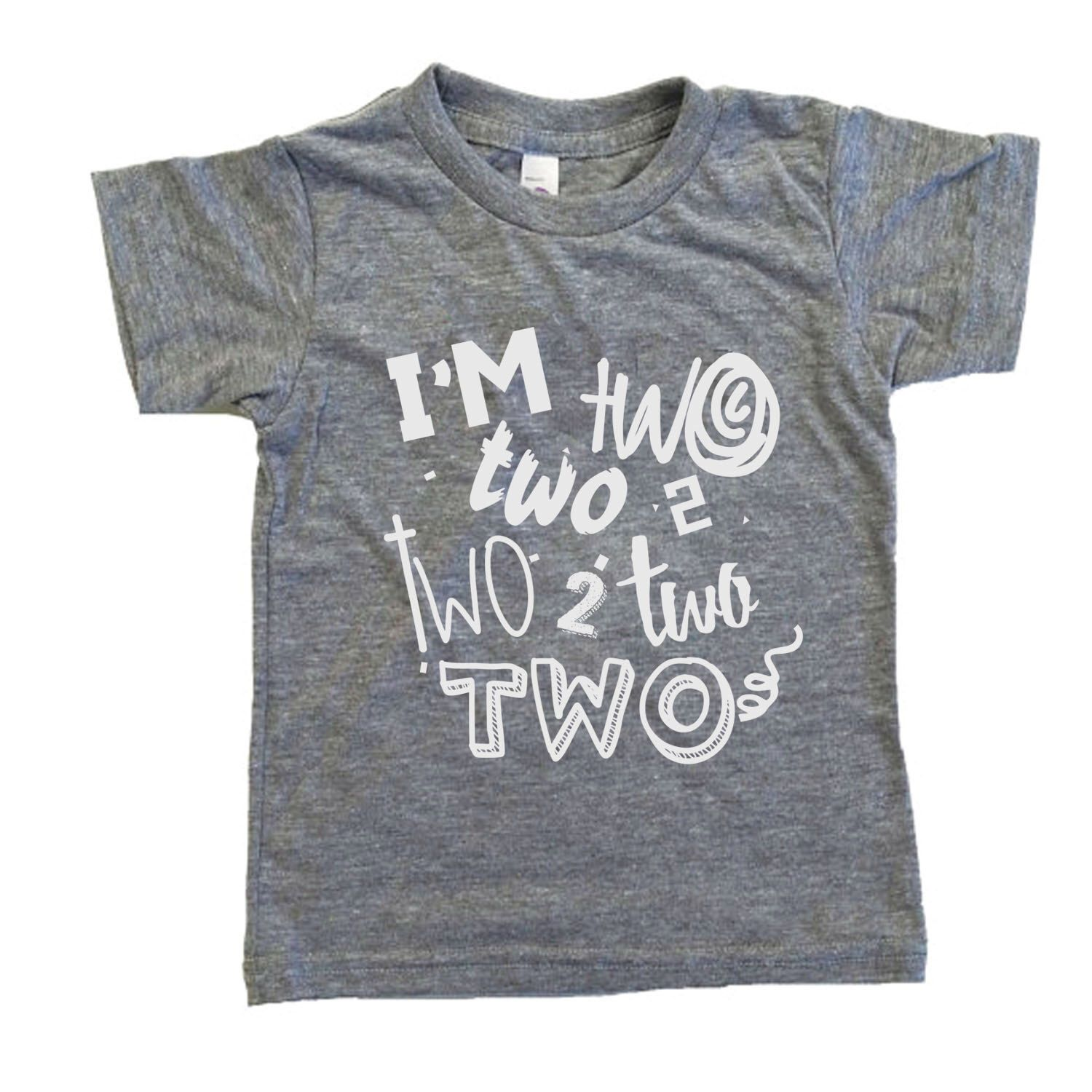 Two handsome shirt 2 year old birthday shirt
