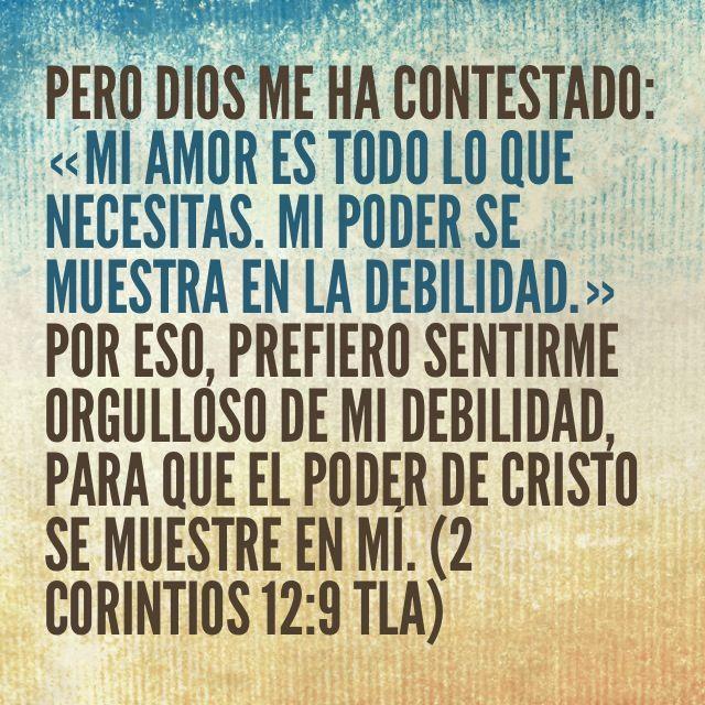 2 Corintios 12 9 Tla Con Imagenes Frases Espirituales 2