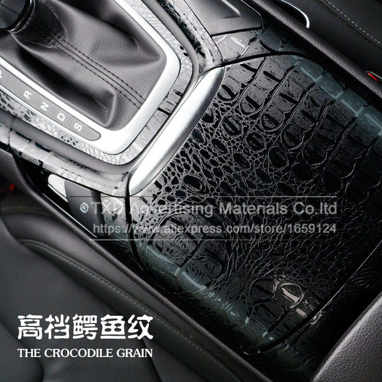 High Quality D Car Simulation Faux Crocodile Skin Leather Car - Car decals designcheap carbon vinyl sticker buy quality carbon time directly from