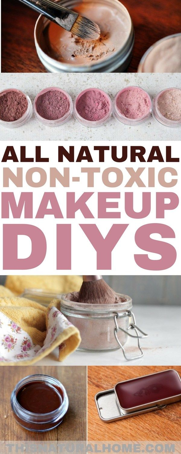 All Natural Non-Toxic Makeup DIYs #diybeauty