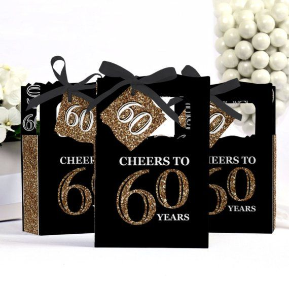 60th Birthday Party Favors For Parties