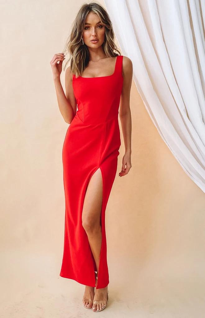 Dolce Formal Dress Red – Beginning Boutique US | Red dress ...