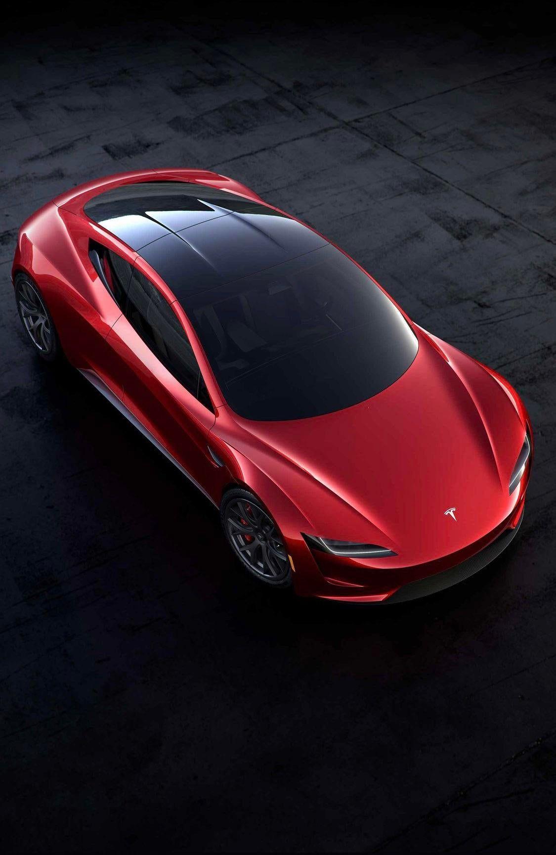 iPhone X Wallpaper Tesla Roadster Wallpaper in 2020