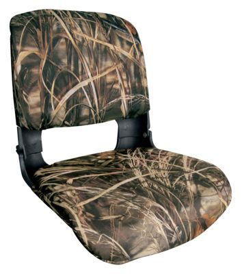 Mossy Oak Camo Folding Boat Seat for Hunting Boating Bass Fishing Camouflage