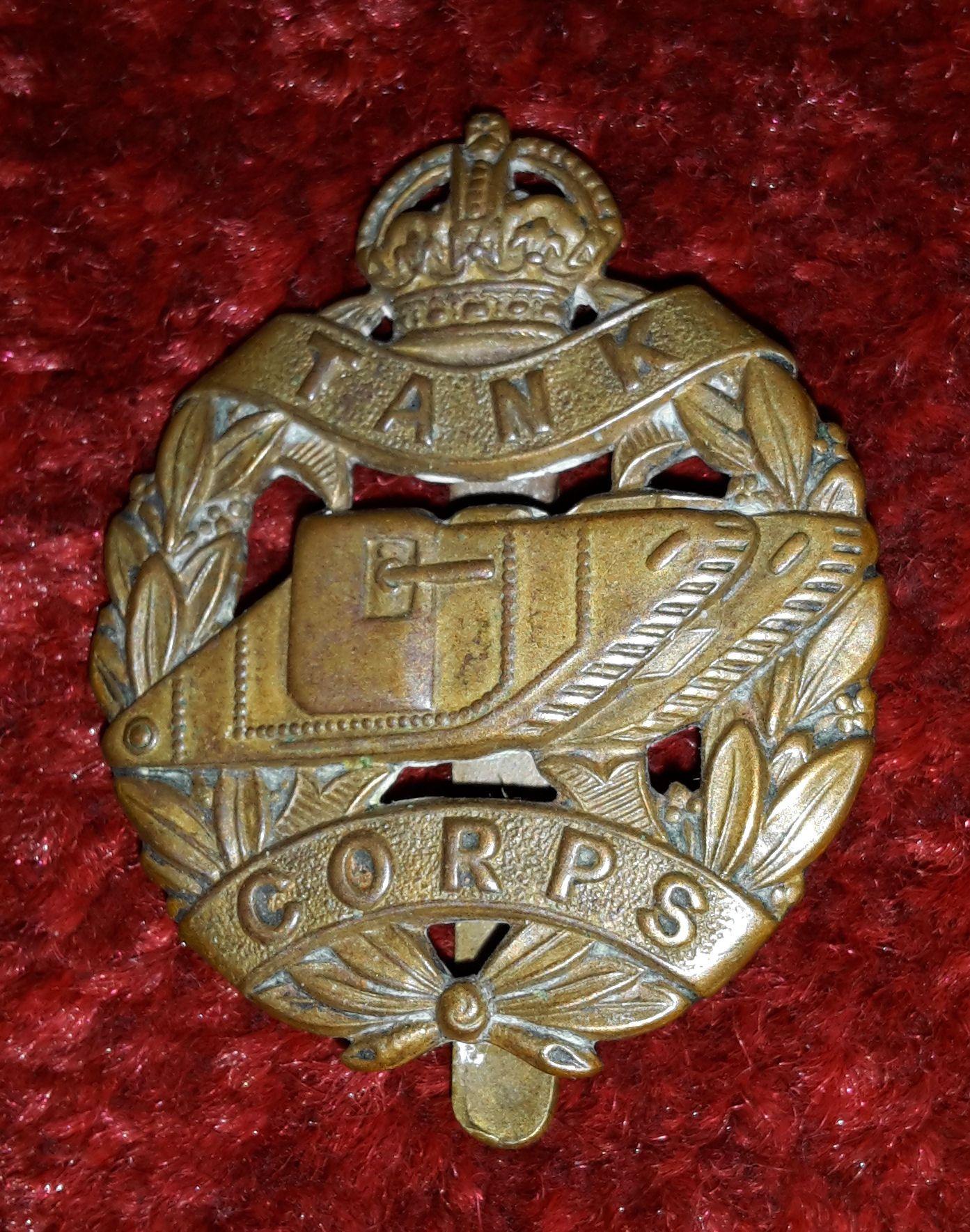 1de365a1f21 Tank Corps WW1 cap badge