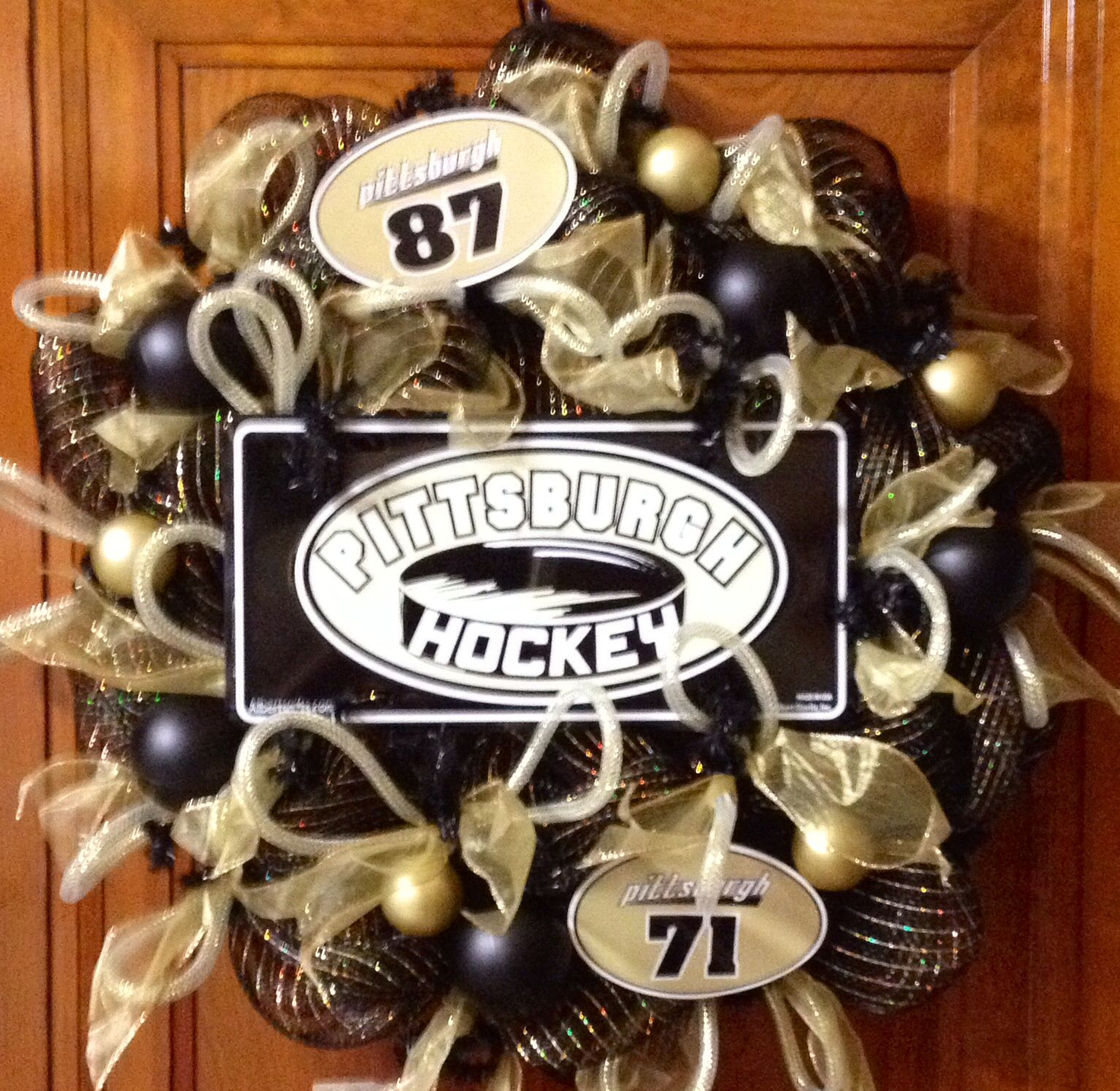 Pittsburgh Penguins Bedroom Decor Pittsburgh Penguins Wreath Pittsburgh Sports Where My Heart Is