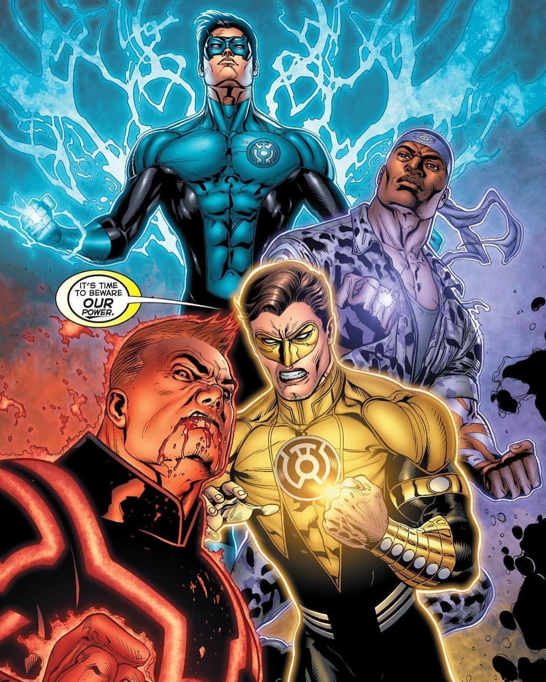 "8,537 curtidas, 30 comentários - DC Comics (@dccomicsunited) no Instagram: ""Kyle, John, Hal, & Guy - Artwork by Doug Mahnke & Randy Mayor Comic - Green Lantern #65"""