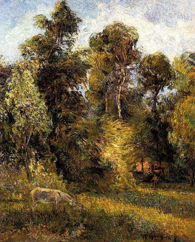 The Forest Edge, by Paul Gauguin