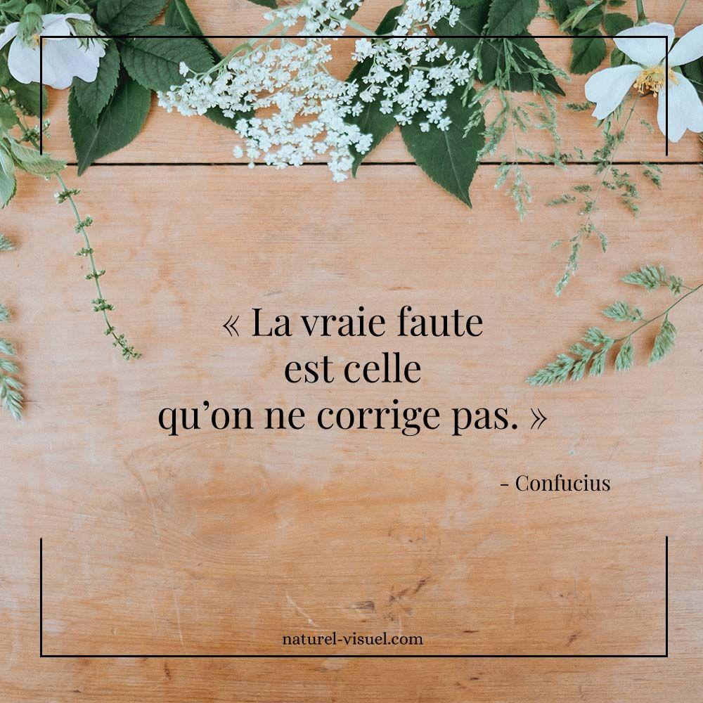 Citation Inspirante La Vraie Faute Est Celle Qu On Ne Corrige Pas Confucius Citation Citati Confucius Citation Citation Enseignement Citations Percutantes