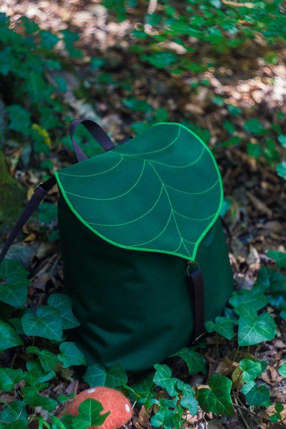 custom large leaf waterproof backpackboho backpack