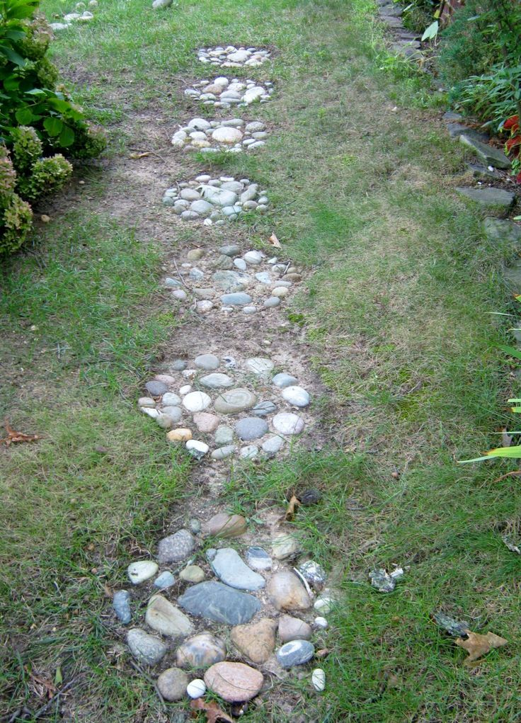 Image result for garden stone pathway uphill diy Large