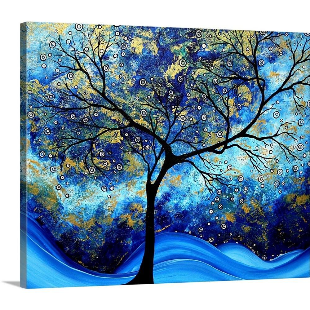 Greatbigcanvas Blue Design By Megan Duncanson Canvas Wall Art 1906791 24 24x20 The Home Depot Big Canvas Art Blue Abstract Art Canvas Wall Art