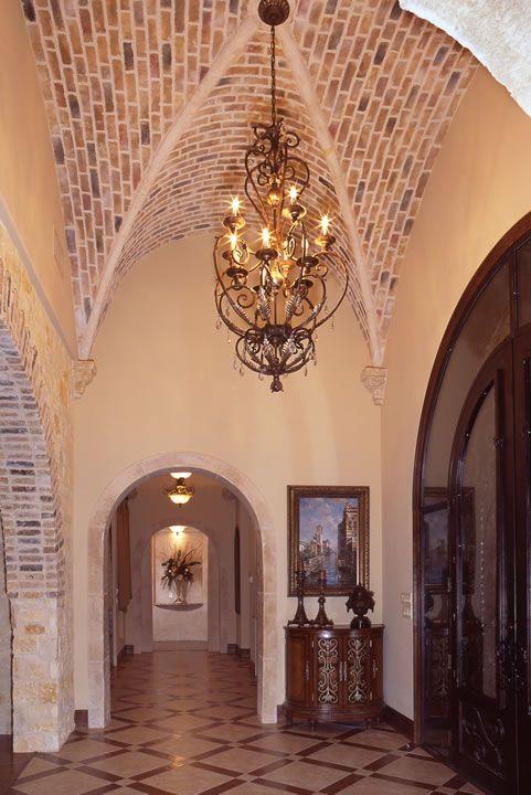 Brick Groin Vault Ceiling Custom Built Homes Vaulted Ceiling