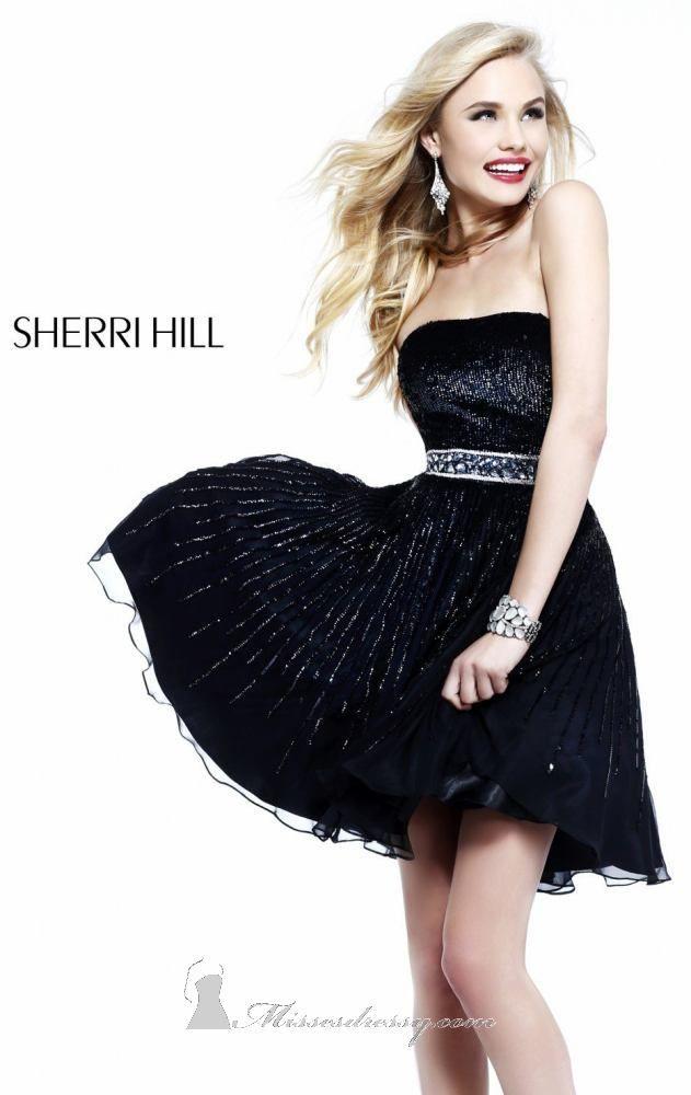 Sherri Hill 8520 | Fall 2013. Black Homecoming DressesShort ...