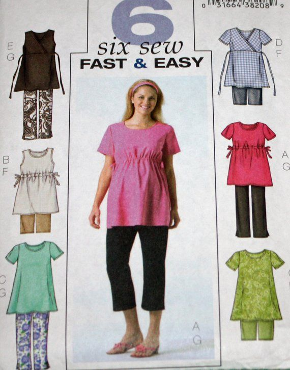 02f5770bd52fb UNCUT, Butterick B4201, Sewing Pattern, Misses', Maternity, Maternity  Clothes, Tops, Shorts, Pants, Misses' Size 8-10-12, Maternity Pattern