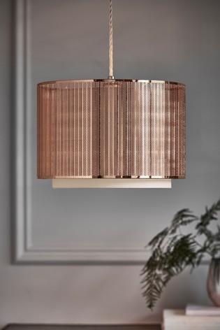 Rose Gold Jada Easy Fit Shade Ceiling, Rose Gold Pendant Lamp Shade