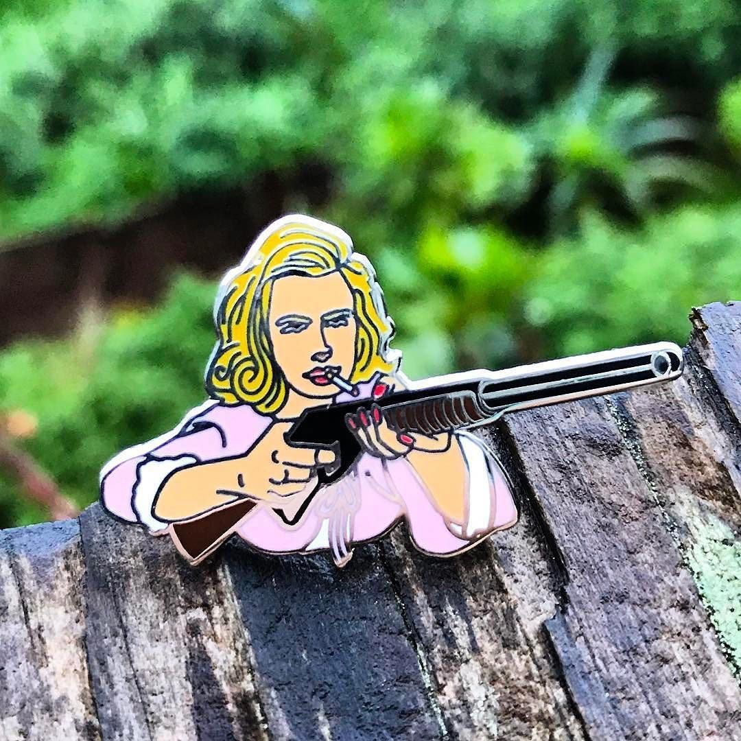 #Repost @weirdoweapons NEW PIN: Betty Draper #birdie // weirdoweapons.com (link in bio) (Posted by https://bbllowwnn.com/) Tap the photo for purchase info. Follow @bbllowwnn on Instagram for great pins patches and more!