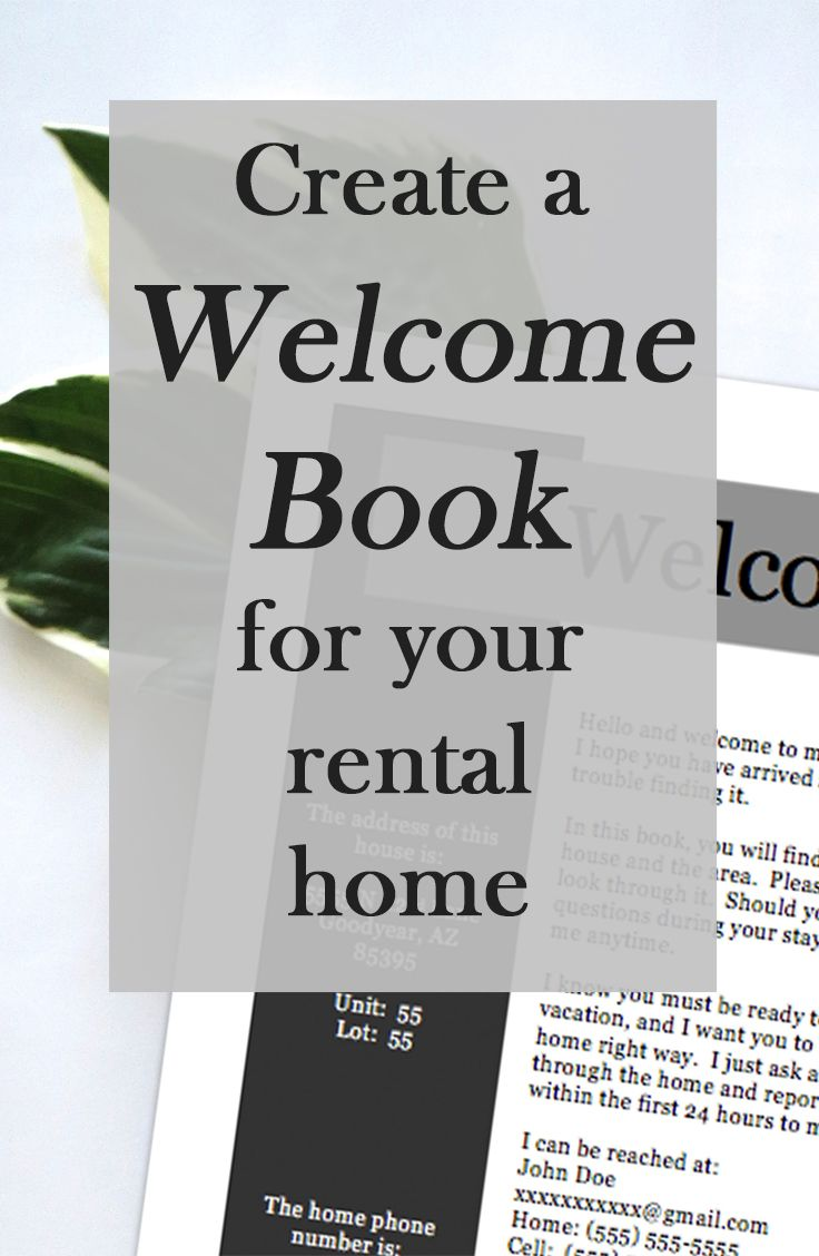 Create The Perfect Welcome Book For Your Vacation Rental Home With This Template Airbnb Flipkey