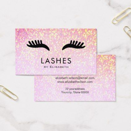 Cartoon lashes on faux sparkle makeup artist business card faux cartoon lashes on faux sparkle makeup artist business card faux gifts style sample design cyo reheart Gallery