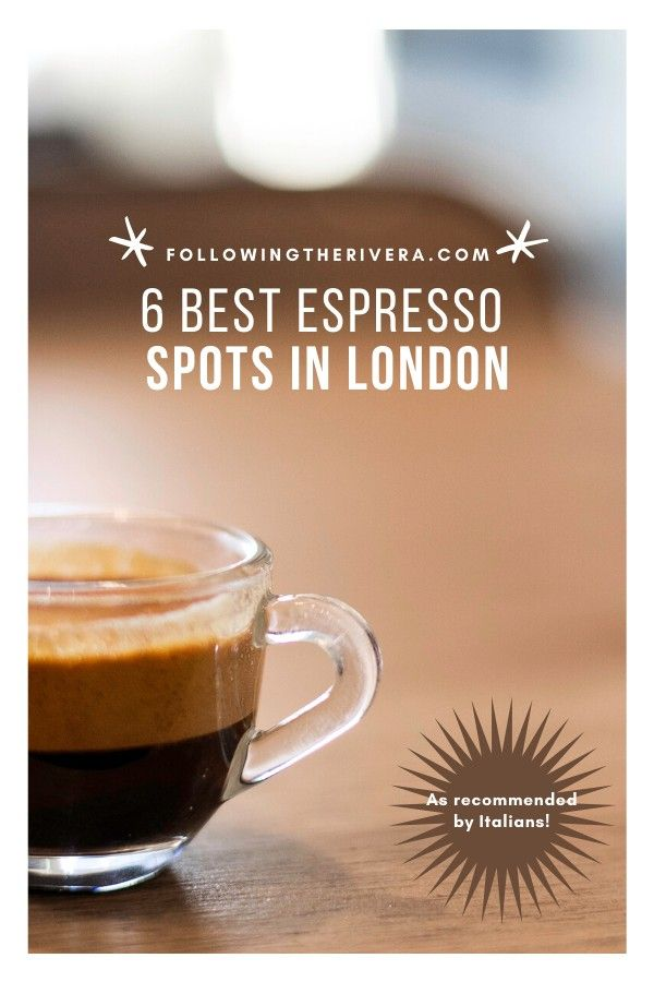 If you can't start your day without your #espresso fix, here are 6 tops places in #london that will get your day off on the right foot. What's more, these places are recommended by those who know best, Italians! #coffee #coffeeshops #caffeine #londontravel #londontravelguide #londontransport #uk #uktravel #sightseeing #travel #traveltips #traveldestinations #travelideas #travelersnotebook #traveladvice #traveladviceandtips #traveltipsforeveryone #traveladdict #travelawesome #travelholic