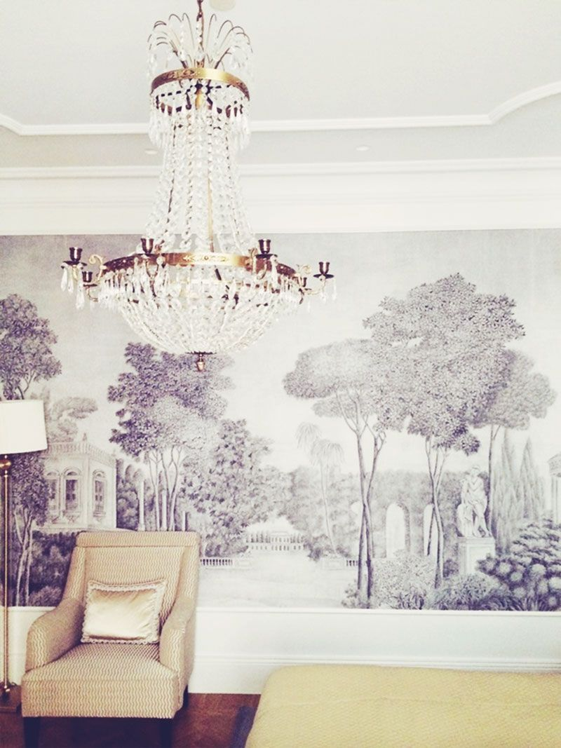 design inspiration of toile \u0026 de gournay textilesset the scene with mural like wallpaper love