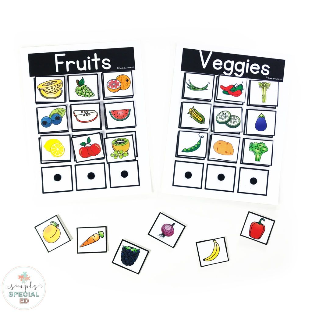 Free Fruits And Veggies Sort