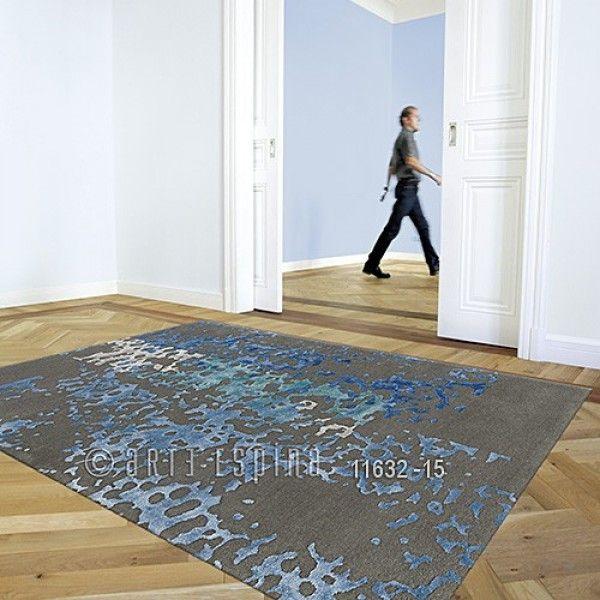 Tapis Laine Coral Gris Et Bleu Arte Espina 120x180 Tapis Cosy Tapis Laine Tapis Shaggy Tapis
