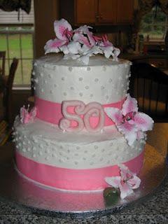 Beautiful Design 50th Birthday Cakes for Women