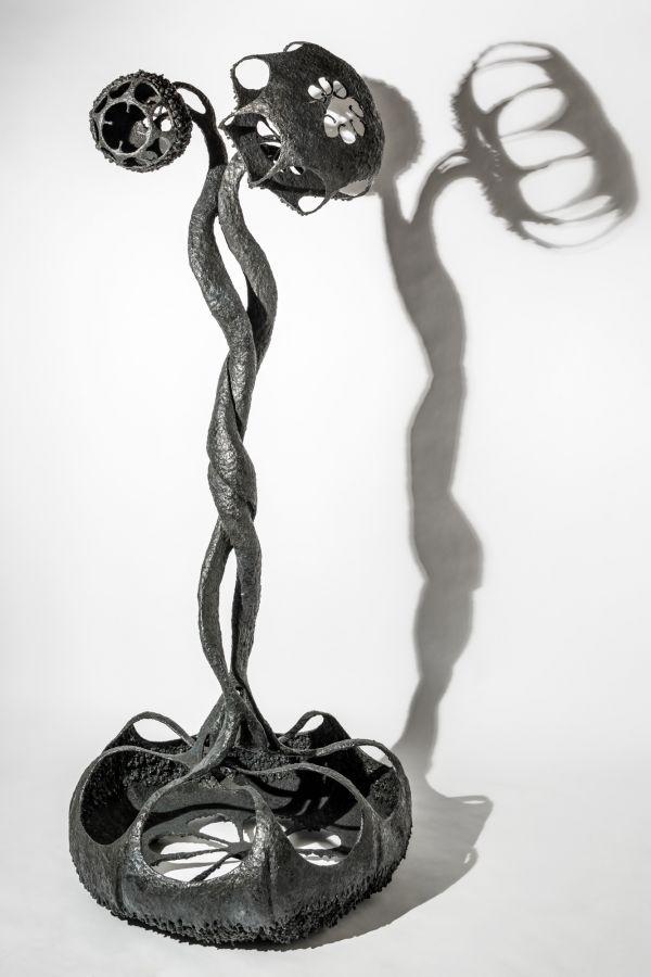 Welded Steel #sculpture by #sculptor Martha Walker titled: \'Dyad ...
