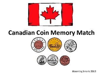 Canadian Coin Money Match Up Game Canadian Coins