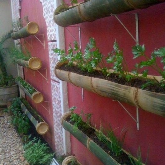 Muitas vezes 35 Dicas de Vasos em Bambu Para Horta e Plantas para Ter em Casa e  MQ55