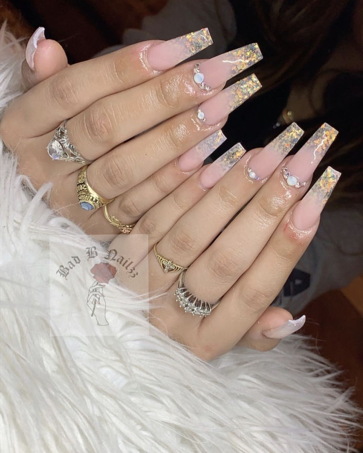 Pin By Biancaaa On Nails Rhinestone Nails Birthday Nails Nails