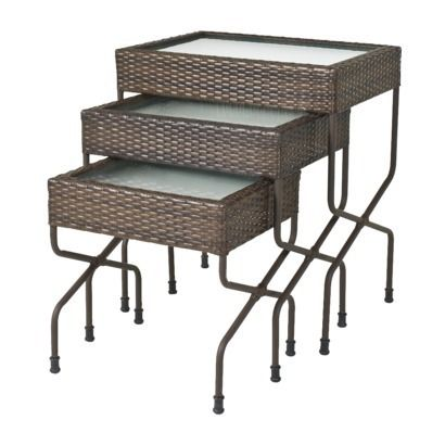 Target Home™ Rolston 3-Piece Wicker Patio Nested Table Set ...