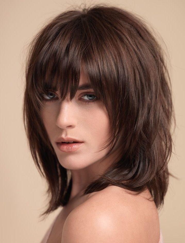 Medium Hairstyle With Pony Medium Hair Styles Midlength Haircuts Hair Styles